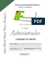Prova Adm - Ifmt - Ufmt - 2013