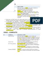 CRUD - Documentação