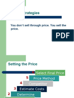 Imm Pricing Strategies