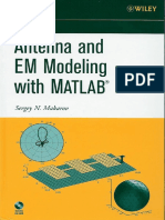 Antenna and EM Modeling With MATLAB - Sergey N. Makarov
