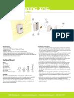 Indoor Enclosure Spec Sheet