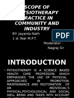 Scope of Physiotherapy Practice in Community and Health