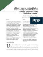 Espacio Publico y Nuevas Centralidades Mexico