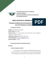"""Propuesta de Optimización Del Transporte de Crudo Pesado en Una Red de Oleoductos en Guatemala"""""""