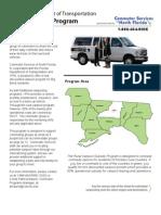 Fact Sheet for FDOT Rural Vanpool Program