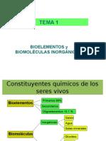 T1 Bioelementos y Biomoléculas Inorganicas