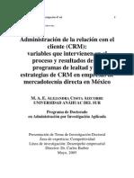 Administración de la relación con el Cliente - CRM