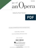 Anthology of Italian Opera - Tenor - Ricordi