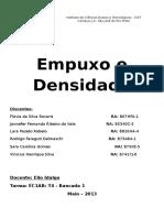 4º Relatório Empuxo e Densidade