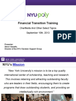 NYU Poly Chart of Accounts and Select Finance Topics for Roadshow