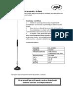 Manual Utilizare Antena Pni 18 244 Magnet Inclus