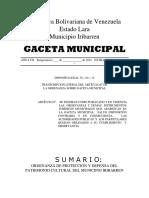 Ordenanza de Proteccion Del Patrimonio Cultural de Iribarren