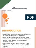 Presentation on GSM Based Energy Meter