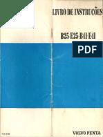 Manual técnico do motor náutico AQB41 chevrolet volvo penta