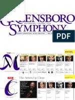 Greensboro Symphony 2016-2017 Brochure