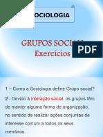 Grupos Sociais Exercicios Correrção