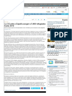La CE Pide a España Acoger a más de 5000