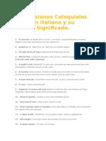 Expresiones Coloquiales en Italiano y Su Significado