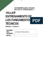 Taller. Entrenamiento de Los Fundamentos Técnicos M7