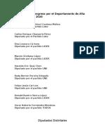 Diputados Al Congreso Por El Departamento de Alta Verapaz 2016