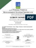 Certificat ISO 14001 En