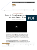 Robot de 5 Toneladas Controlado Con Un Smartphone y Kinect - Blog Ingeniería