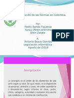 Jerarquización de Las Normas en Colombia