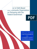 GUIDANCE TO FAITH-BASED AND COMMUNITY ORGANIZATIONS ONPARTNERING WITH THE FEDERAL GOVERNMENT