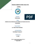 Analisis de La Incidencia de Los Medios de Comunicacions de La Criminalidad ORIGINAL TRABAJO FINAL