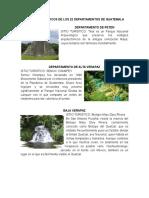 Lugares Turísticos de Los 22 Departamentos de Guatemala Con Imagen