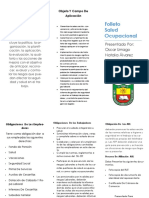 Folleto de Salud Ocupacional PDF