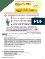 Calderas y Generadores de Vapor Mantenimiento Predictivo, Preventivo y Correctivo