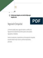 Negociación Extrajudicial-Despacho Jauregui y Asociados