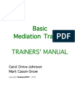 Mediation at MIT Training Manual
