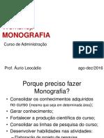 Métodos de Pesquisa III Roteiro de Monografia