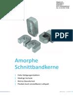 AMCC Brochuere Amorphe Schnittbandkerne