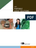 Portable Audio Solutions 2007 En