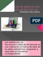 Agrupación de Datos en Una Distribución de Frecuencias