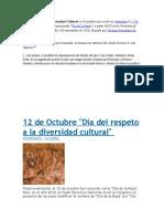 Día del Respeto a la Diversidad Cultural es el nombre que recibe en Argentina el 12 de octubre.docx
