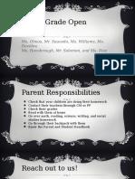 eighth grade open house