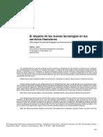 El impacto de las nuevas tecnologías en los servicios financieros