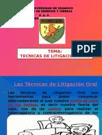 Tecnicas de Litigacion Oral - Copia