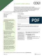 UK Land Registry - Change of Details Form COG1