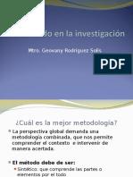 El MÉTODO DE LA INVESTIGACIÓN.