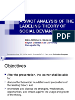 LABELING THEORY ~ SWOT ANALYSIS.ppt