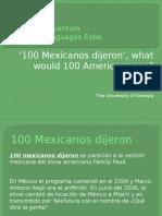 100 Mexicanos ACTFL Presentation