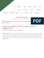 Curd Rice Recipe _ How to Make Curd Rice Recipe (Yogurt Rice)