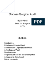 Discuss Surgical Audit