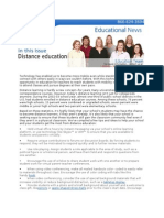 Education Newsletter - Distance Learning
