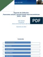 Reporte de Inflación 2016 - 2018